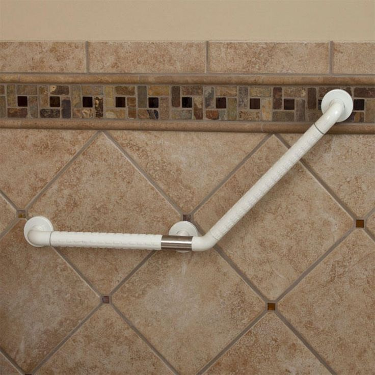 marion large angled grab bar ada compliant offwhite