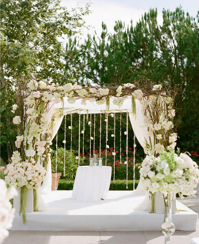 144 best wedding arches images on pinterest wedding arches a romantic all white wedding by marisa holmes junglespirit Images