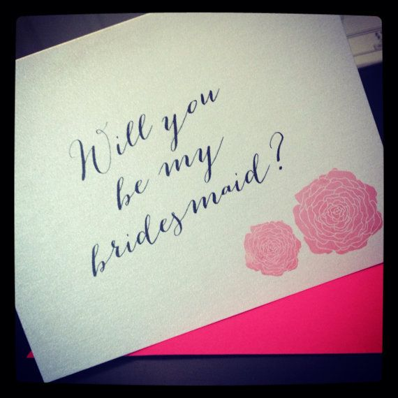 Ask your bridesmaid with this Will you be by UptownDesignsCanada