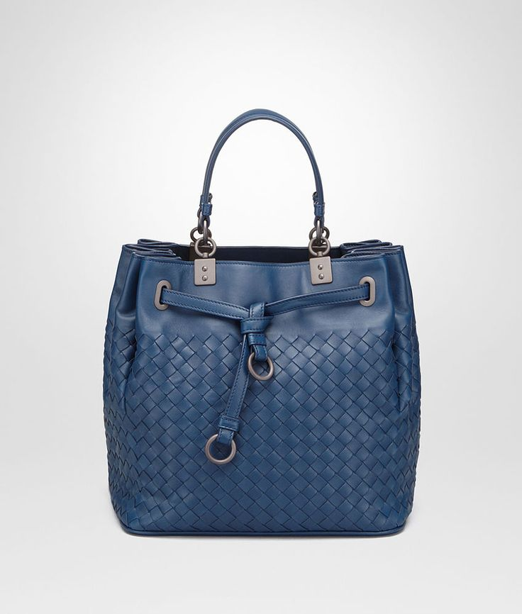SS2016 BOTTEGA VENETA WOVEN BUCKET BLUE PACIFIC BAG INTRECCIATO 420477V00164192