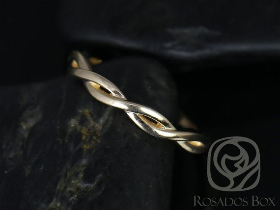Plain Dusty 14kt Yellow Gold Weaving Braid Halfway Eternity Band Available In Other Metals Vine Snakefree Weddingeternity