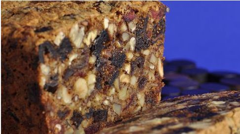 A Wonderful Old Fashioned Dark Fruitcake Full Of Nuts And