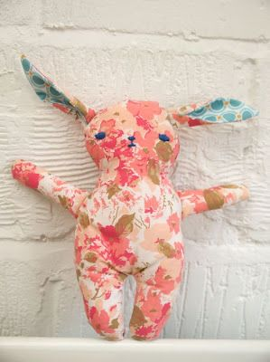 Randomly Happy: Making a stuffed toy from a vintage sheet