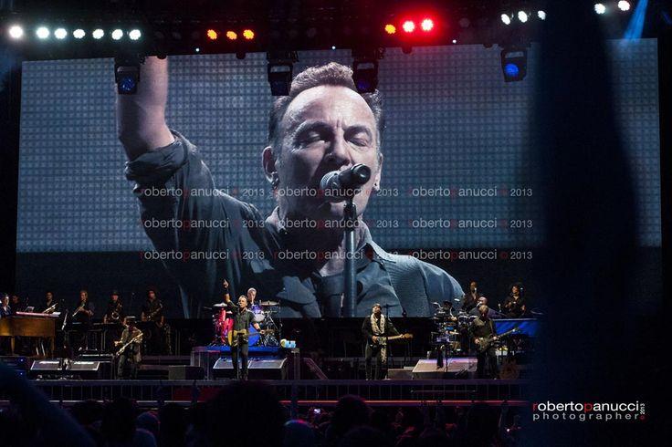 foto concerto Bruce Springsteen Rock in Roma 11072013