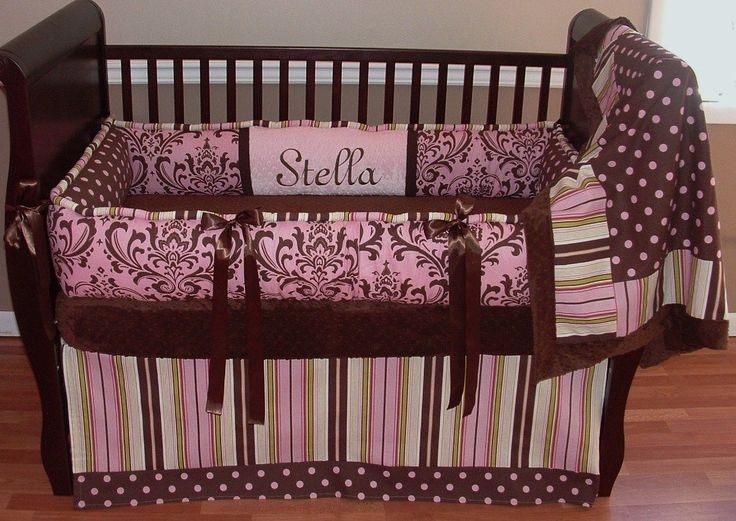 29 Best Images About Pink And Brown Baby Bedding On