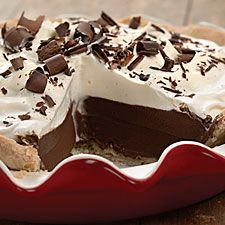 Chocolate Cream Pie - Basic chocolate pie with whipped cream topping. Classic