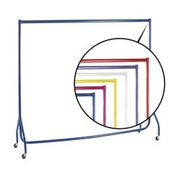 Great coloured clothes rails