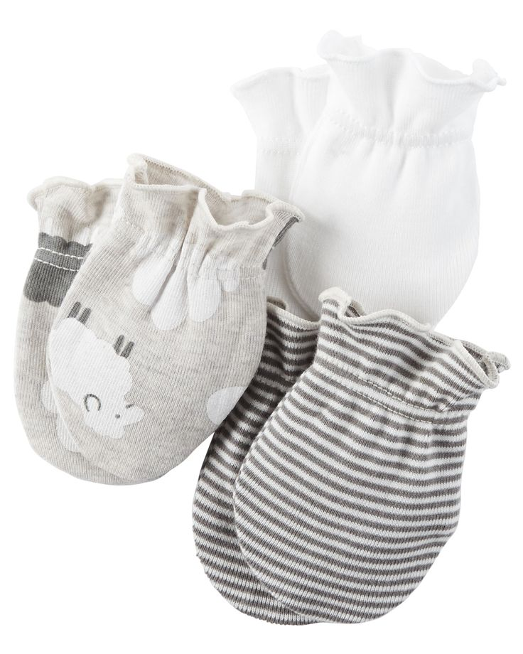 Baby Girl 3-Pack Mittens | Carters.com