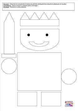 Le tout petit roi - Différents type de coloriage - PS, MS, GS