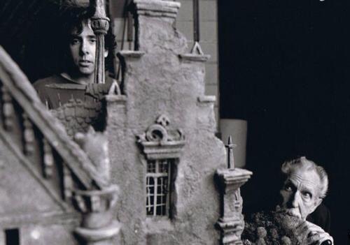 Tim Burton and Vincent Price