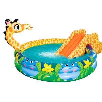 Manley Banzai Spray N Splash Giraffe Kids Pool Via Target The Kids Will Love It Bbq And