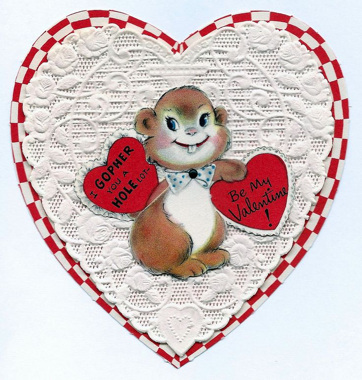 Vintage Valentine Day Greeting Card From American Greetings - greeting card format