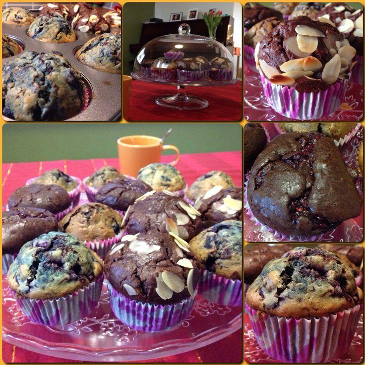 Blueberry & Chocolate Muffins