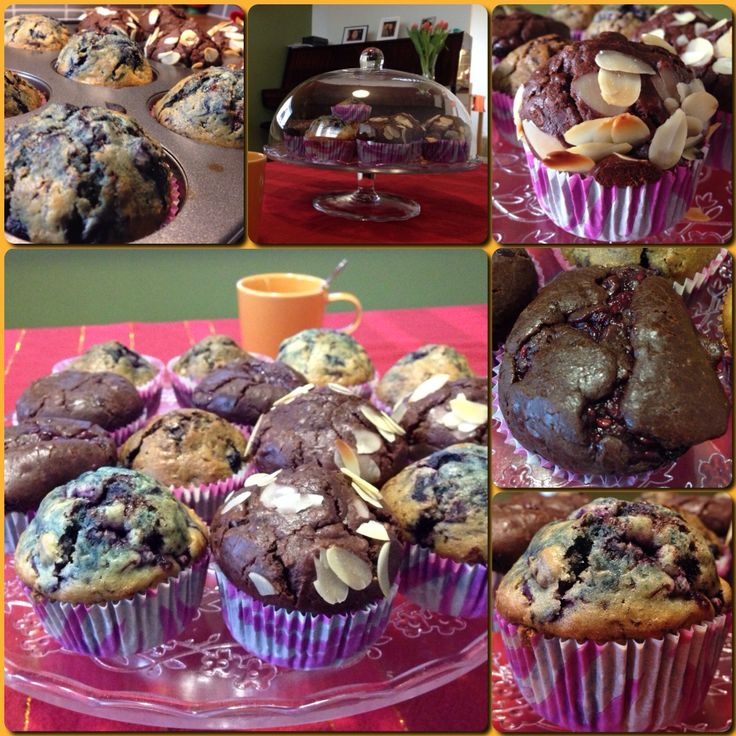 Blueberry & Chocolate Muffins