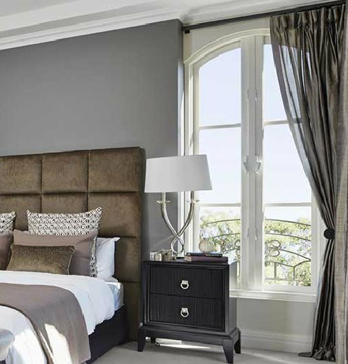 Decorate Your Master Bedroom with black sheer curtains