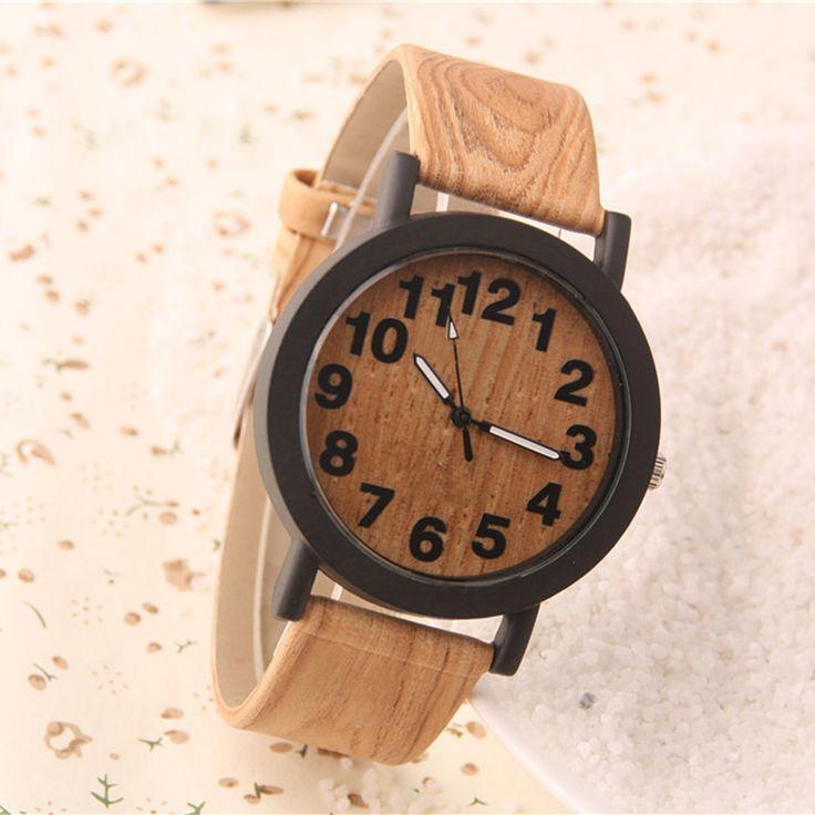 Cindiry Fashion Women Simple Bamboo Wood Grain Band Quartz Wrist watches Ladies Wristwatch Numeral Wood Watches Girl Clock P20
