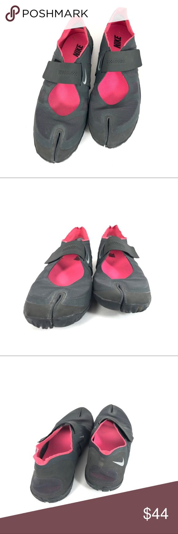 Nike Air Rift Split Toe Nike Air Rift Split Toe Shoes Grey with pink interior  So fun and comfy  Super flexible and lightweight  Good used condition  Size 8.5 Nike Shoes Athletic Shoes