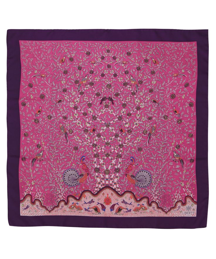 Pretty pink Eden #LibertyPrint silk scarf. Shop all Liberty scarves here http://www.liberty.co.uk/fcp/categorylist/dept/accessories_scarves_liberty #LibertyScarf
