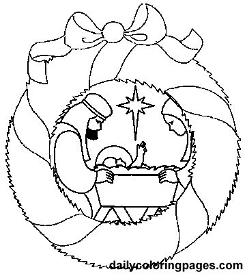nativity scene bible coloring sheets 09