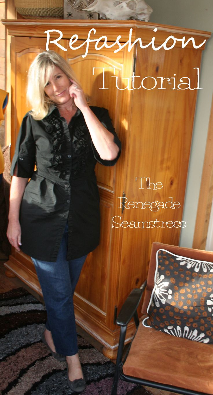 Shirt Refashion Tutorial and a Few Thrift Store Shopping Tips | The Renegade Seamstress