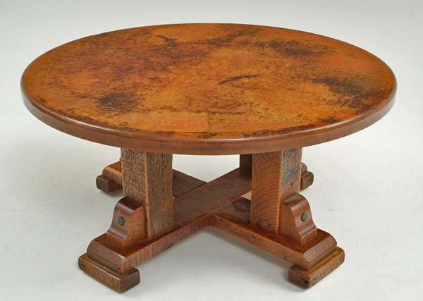 99 best hand hammered recycled copper furniture images on pinterest Eco friendly coffee table
