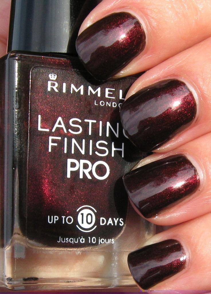 rimmel nail polish lava red ....perfect for fall