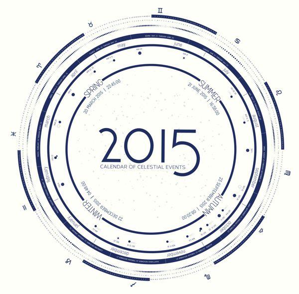 2015 Celestial Calendar on Behance