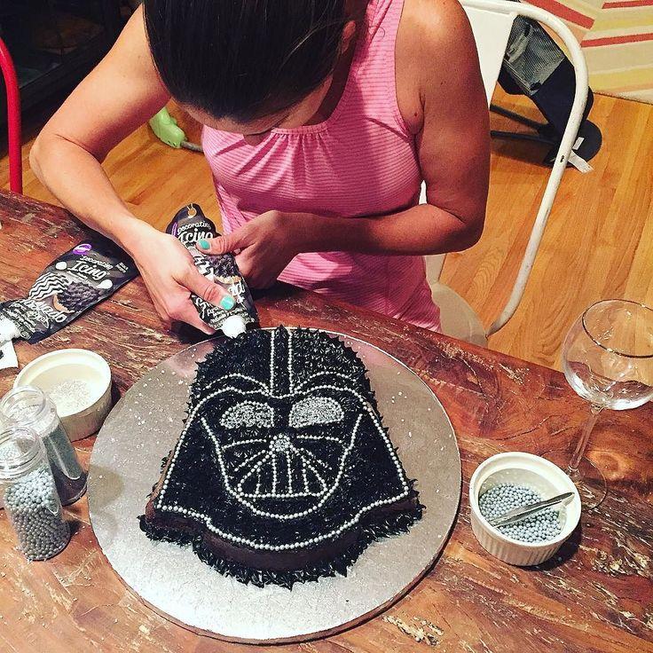 Operation Darth Vader cake  we've got a big birthday to celebrate tomorrow…