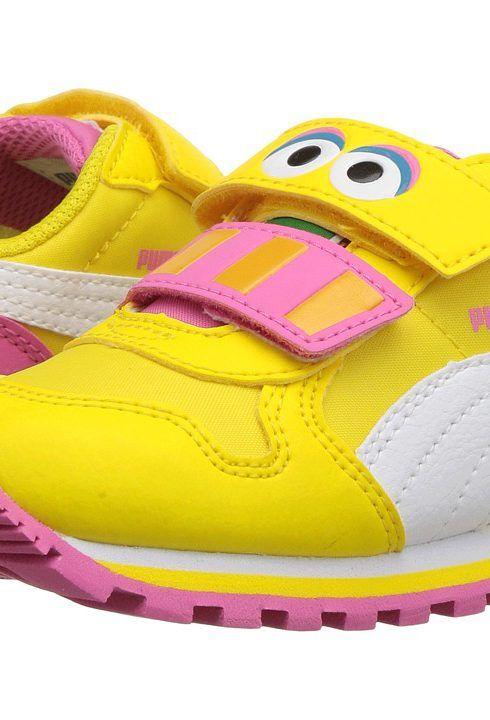 Puma Kids St Runner Big Bird Hoc V INF (Toddler) (Dandelion/Puma White) Kids Shoes - Puma Kids, St Runner Big Bird Hoc V INF (Toddler), 36288901-700, Footwear Closed Hook and Loop, Hook and Loop, Closed Footwear, Footwear, Shoes, Gift, - Fashion Ideas To Inspire