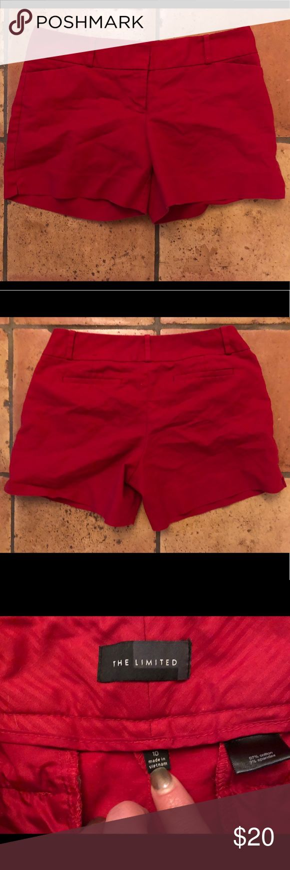💥30% off bundles💥 The Limited Brand Dress Shorts Preowned The Limited Brand Dress Shorts. A red pair of size 10, not worn too many times. The Limited Shorts