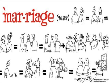 Cartoon Gay Marriage Political
