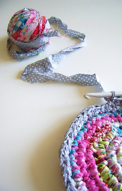 Rag crocheting  by silly old suitcase via Flickr.
