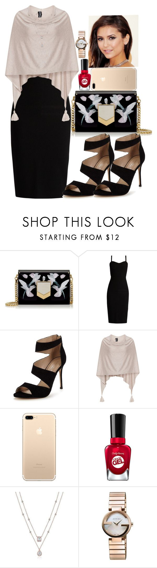 """Nina Dobrev Look"" by ludya ❤ liked on Polyvore featuring Jimmy Choo, MaxMara, Carvela, Samoon and Gucci"