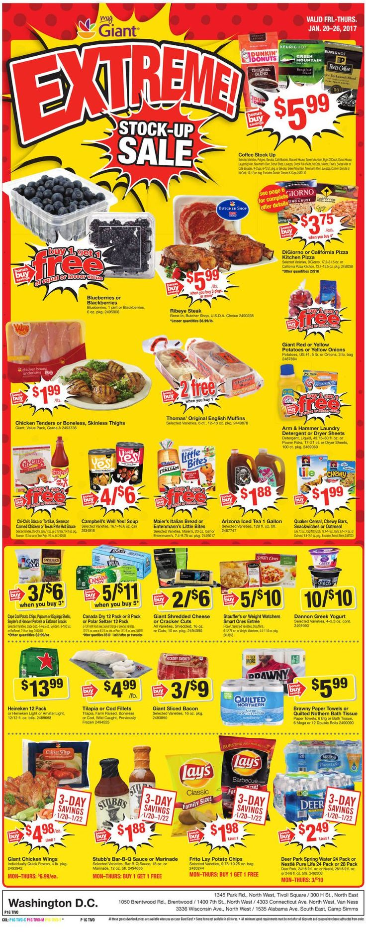 Giant Food Weekly Ad January 20 - 26, 2017 - http://www.olcatalog.com/grocery/giant-food-weekly-ad.html