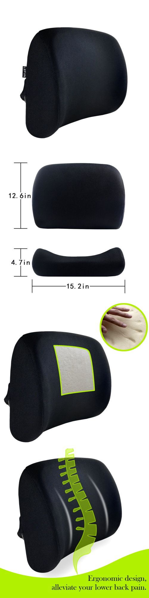 Seat and posture cushions lumbar cushion lower back support chair seat foam pillow