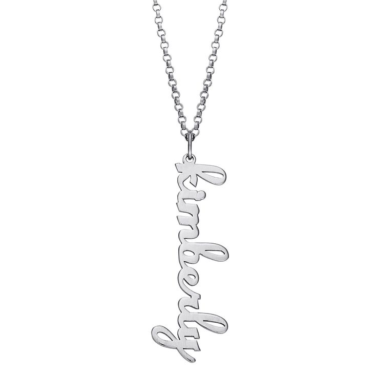 106 best personalized name necklaces images on pinterest friends mbm personalized name pendant with rolo link chain metallic aloadofball Choice Image