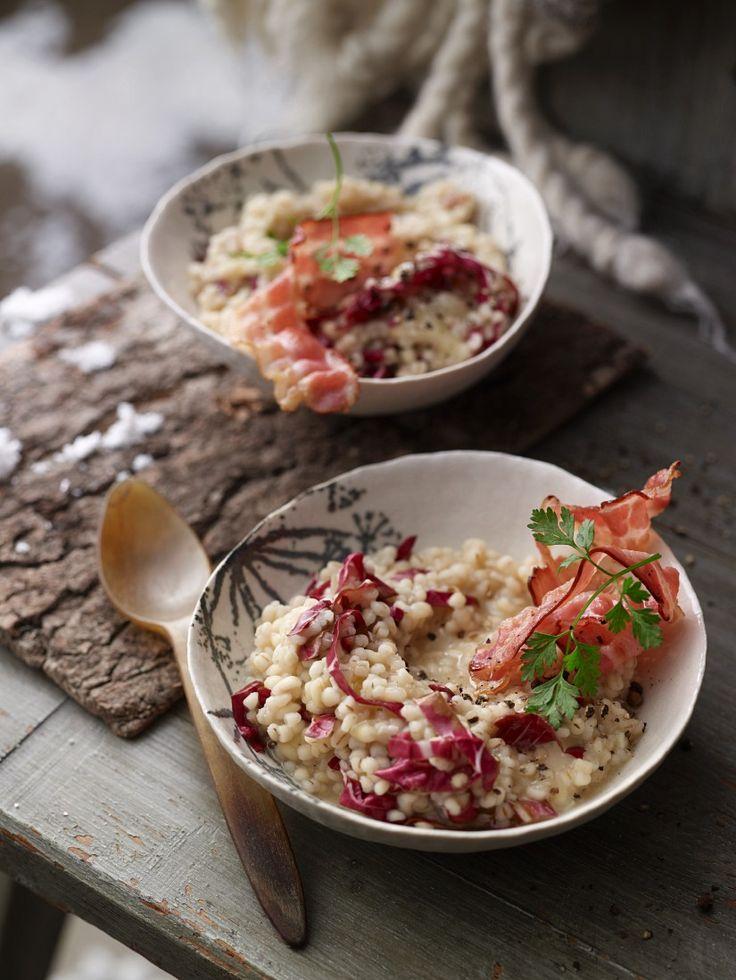 Graupenrisotto mit Speck und Parmesan | Zeit: 30 Min. | http://eatsmarter.de/rezepte/graupenrisotto-4