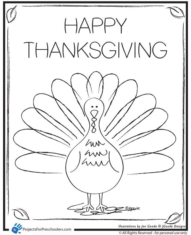 thanksgiving coloring pages for preschool - photo#10