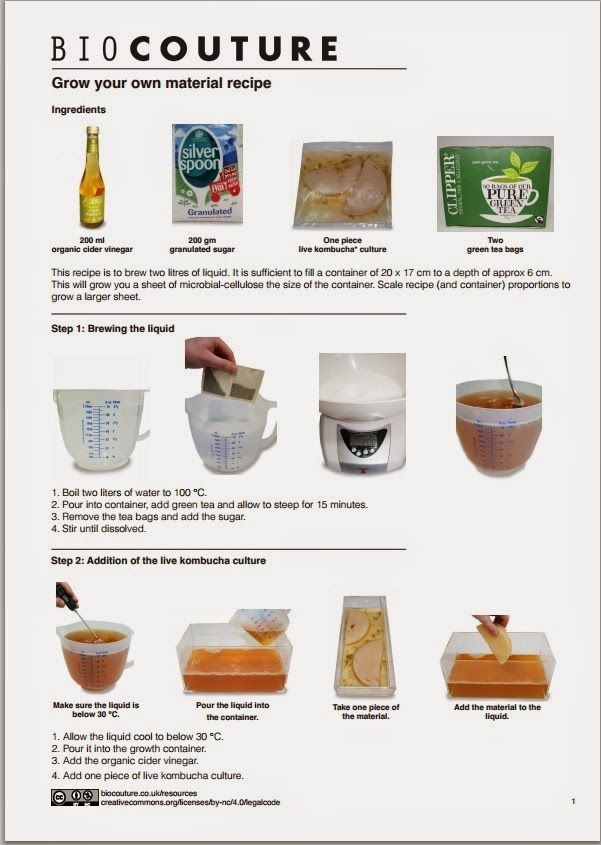 bio couture: Grow your own material recipe.