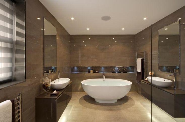 Azulejos Baño Marron:diseño de azulejos de baño color marrón