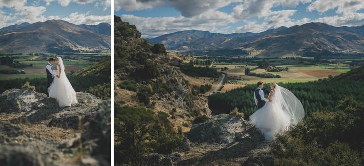 Up above the ceremony site at Criffel Station Woolshed Wanaka NZ.