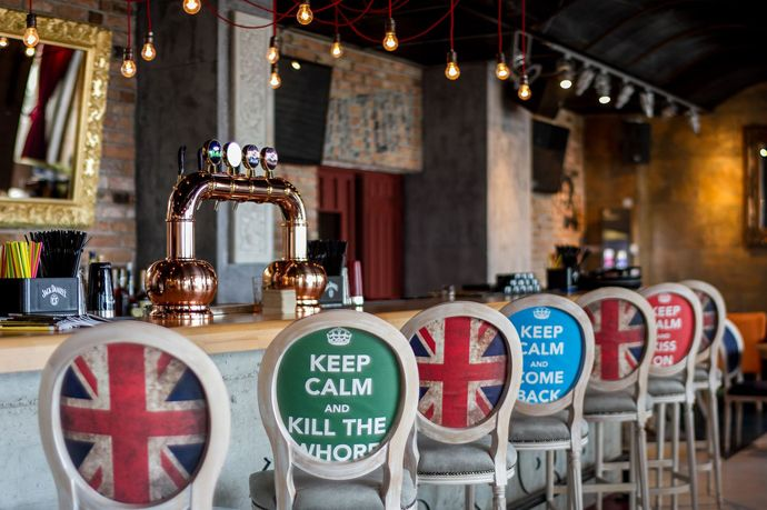 Union Jack Bar Shows Off The Best Of British Design, Galati, Romania
