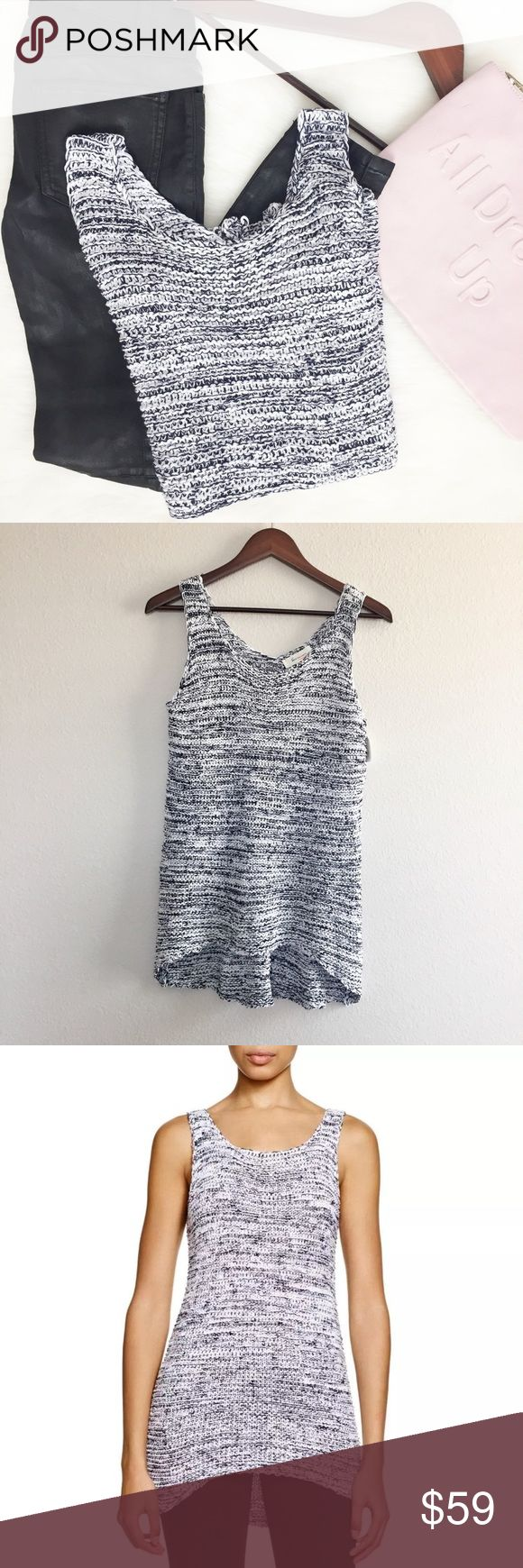 """Two by Vince Camuto Morning Sky Sweater Tank •Two by Vince Camuto• Morning Sky White High Low Tank    • Wide {Pit to Pit}: 18""""  • Long: 26""""  • Colors: Blue & White   • Size: Medium   • NWT  Fabrics:   • 70% Cotton   • 17% Nylon   • 13% Acrylic    ✏️Measurements are approximate  💰Bundle Discounts Available 🏷Reasonable Offers Welcomed  ❌Sorry No Trades Two by Vince Camuto Tops Tank Tops"""