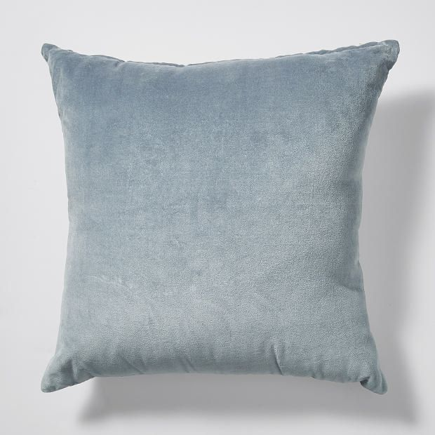 Grey Beach Luxe Velvet Cushion -  45cm