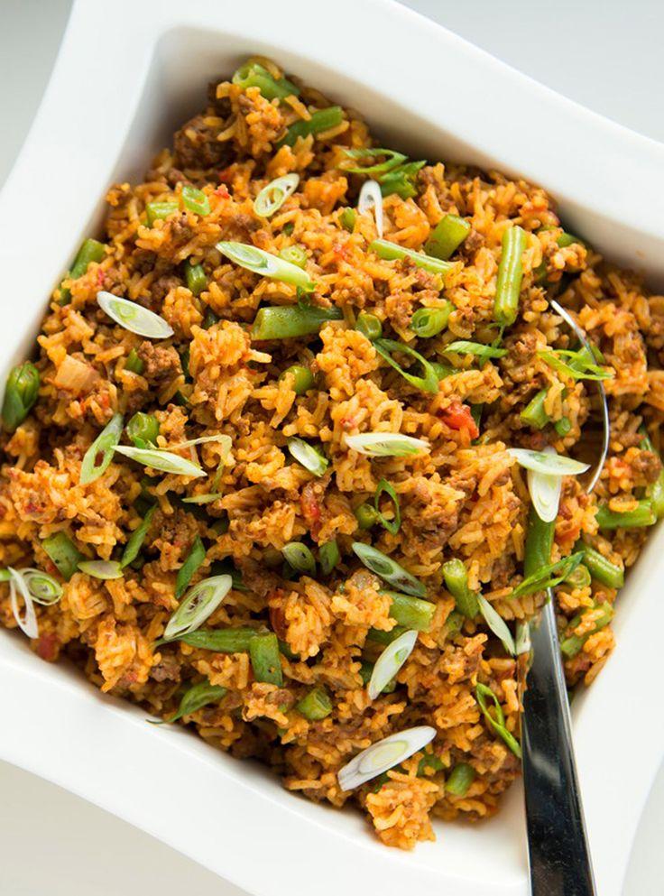 Casserole de riz au boeuf et aux tomates | Ricardo