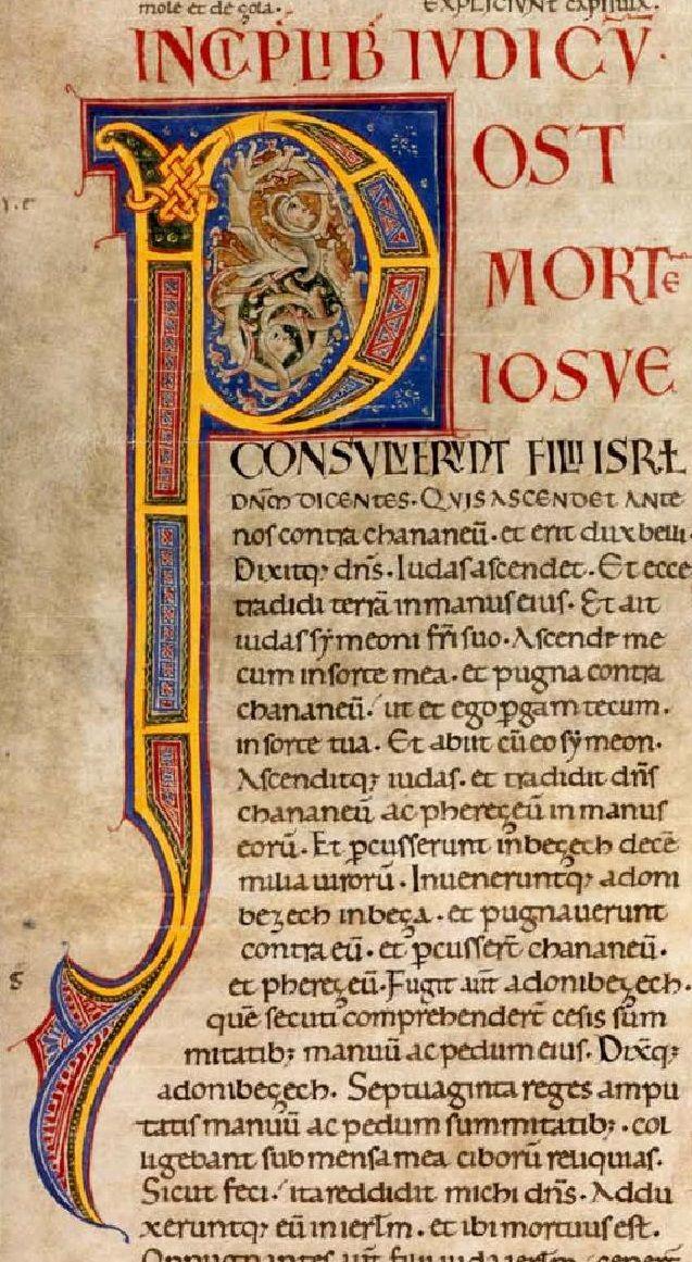 Carolingian writing a letter