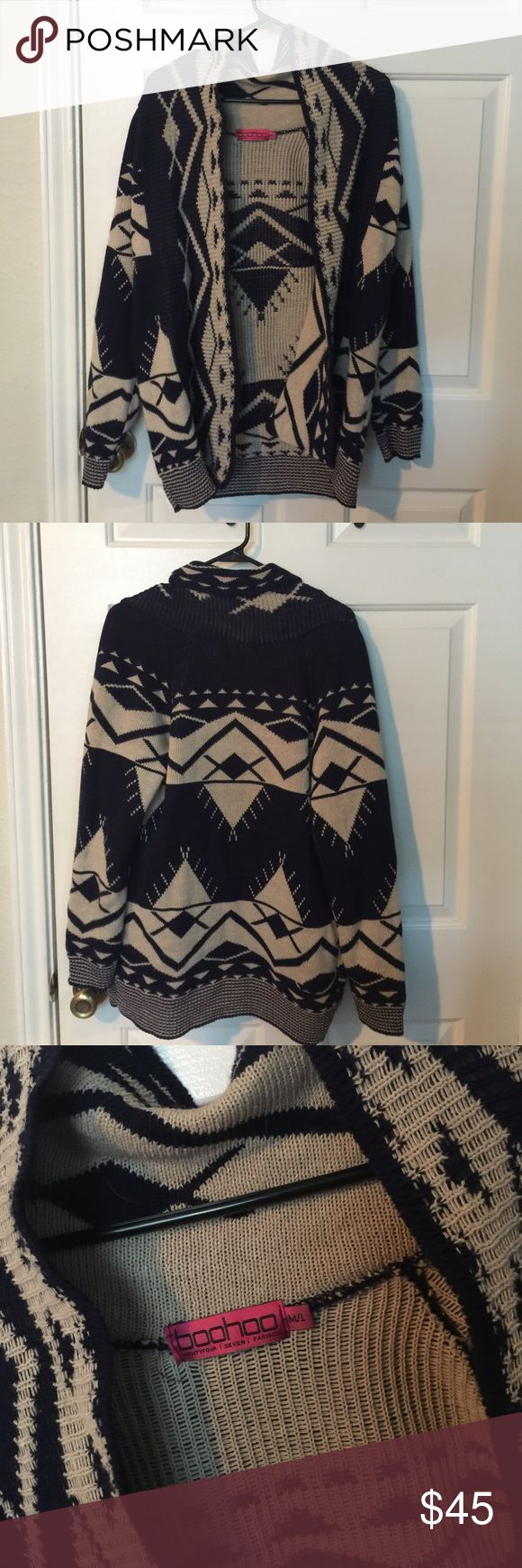 Tribal Print Cardigan Lush Cardigan. Purchased from BooHoo. Never been worn. Perfect for fall. Sweaters Cardigans
