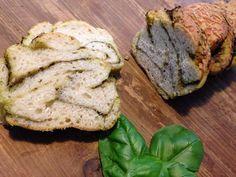 pane al pesto di basilico con licoli
