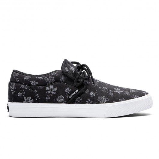 SUPRA Cuba black floral print white chaussures 69,00 € #skate #skateboard #skateboarding #streetshop #skateshop @playskateshop