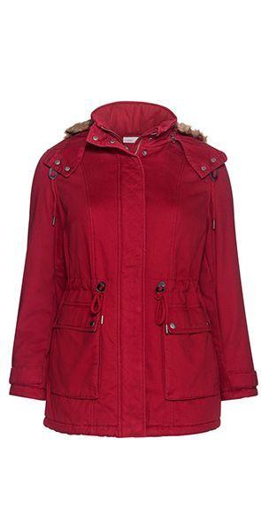 Warme Mode für kalte Tage in großen Größen online kaufen   sheego   WInterparka   Kapuze mit Zipper
